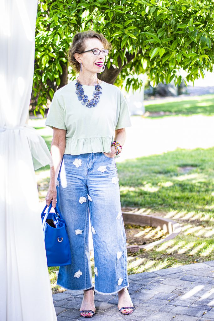Wide leg denim in style