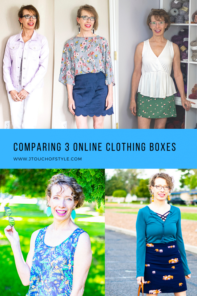 Comparing 3 online clothing boxes