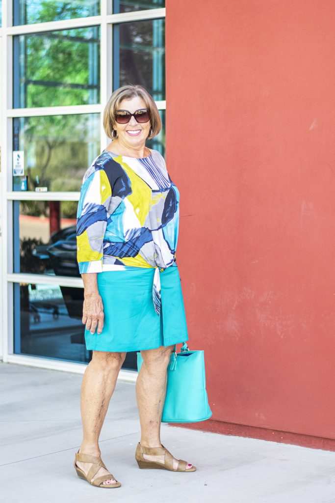 Embracing and showing legs in women over 70