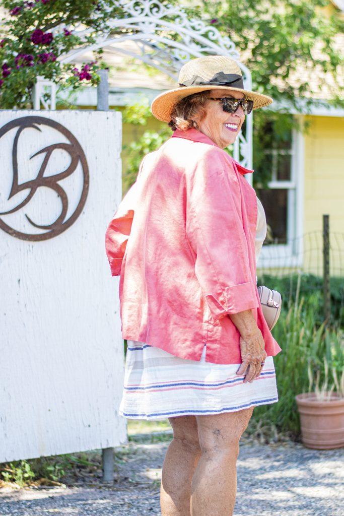 A blouse as a jacket