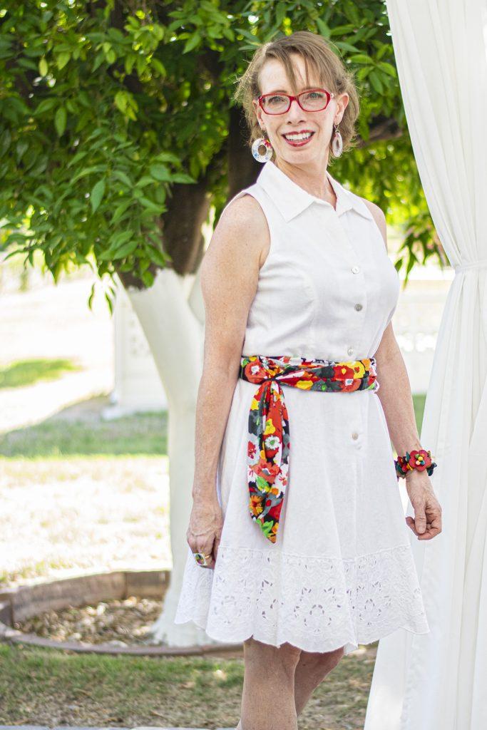 Belt on a dress