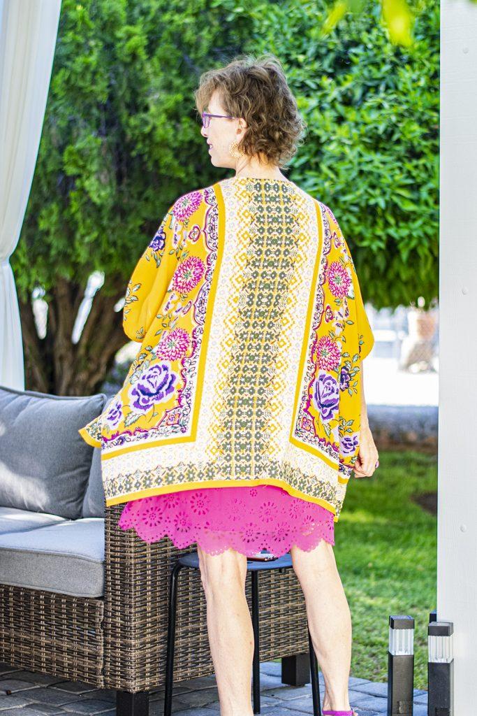 Colorful kimono and summer