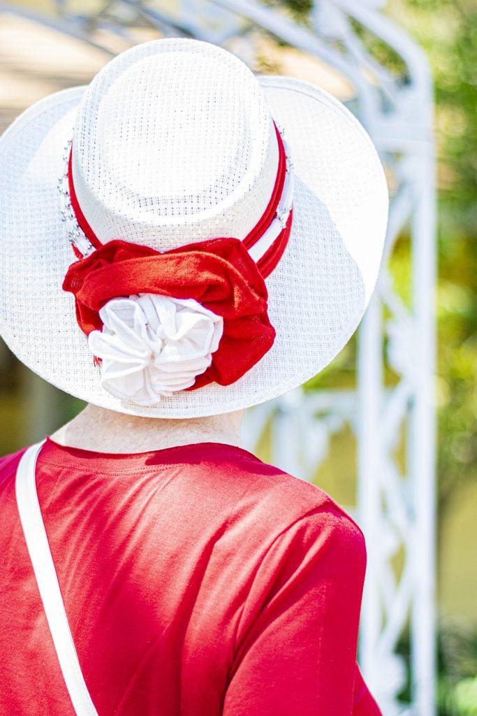 White hat for summer