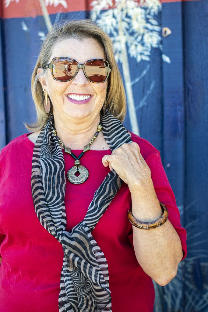 Woman over sixty with a scarf
