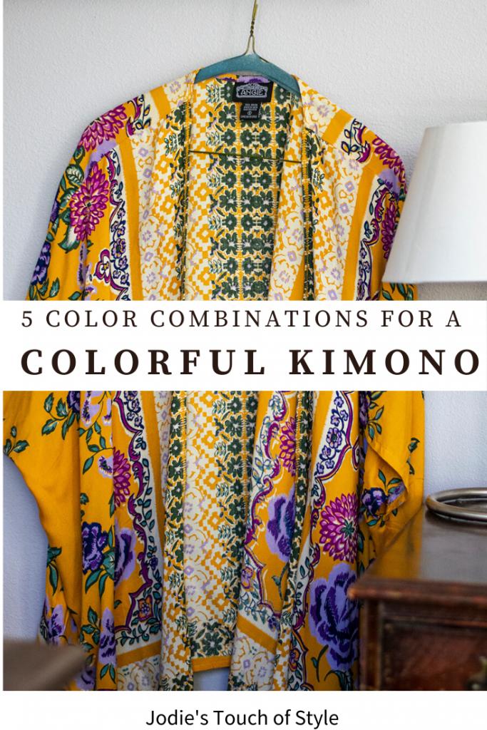 5 color combinations for a colorful kimono