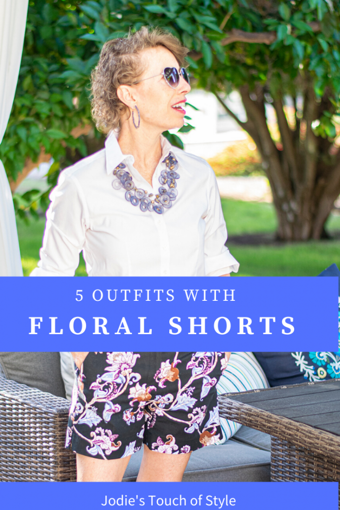 5 outfits of what to wear with floral shorts