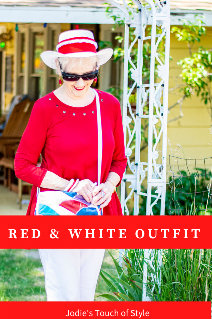 Styling a red and white outfit