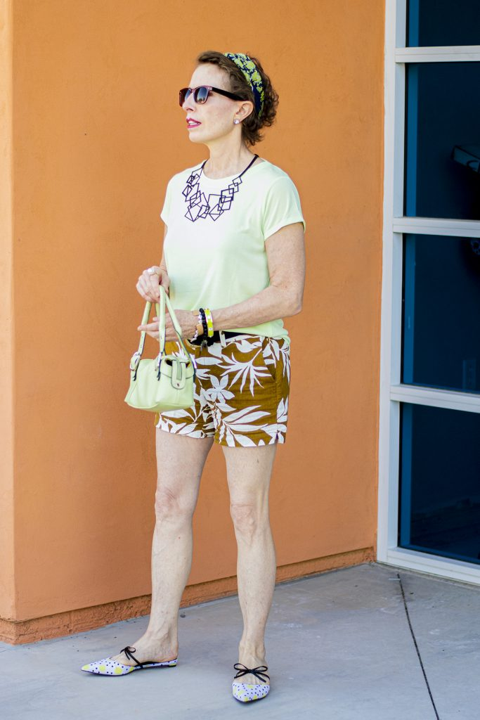 Older women in shorts over age fifty