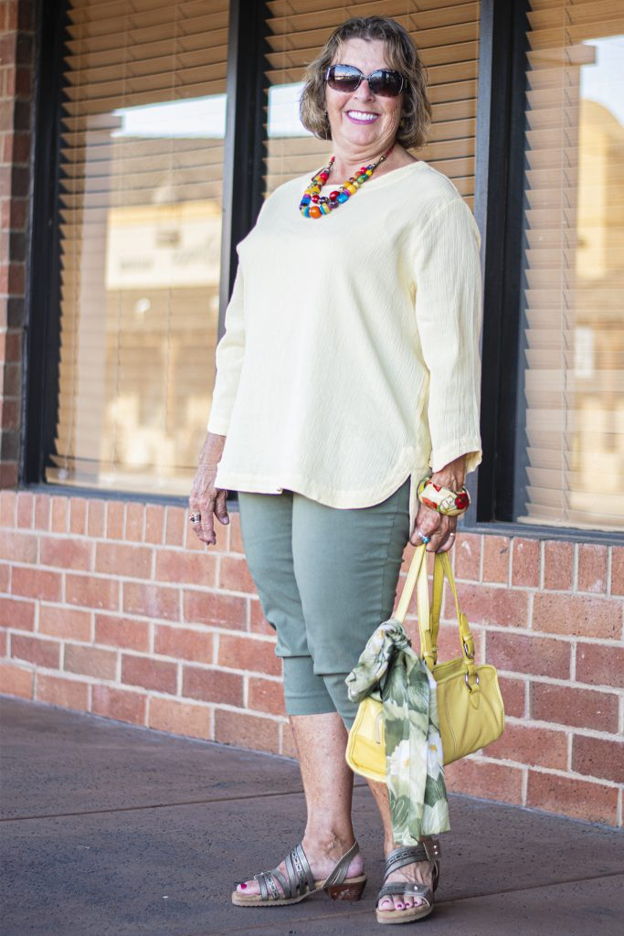 Yellow and olive green