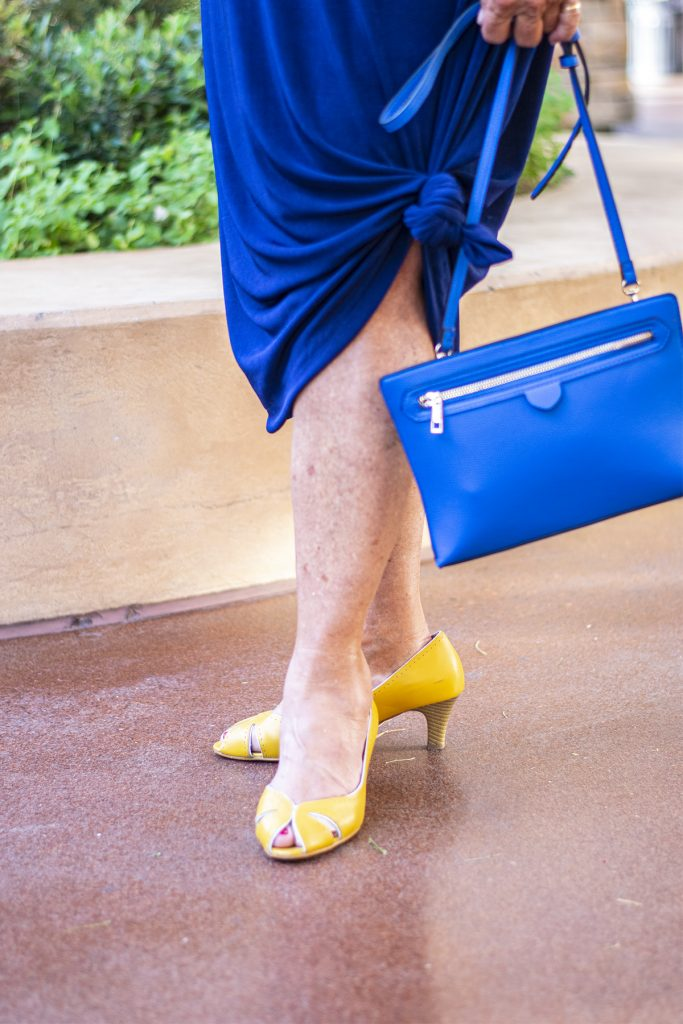 How to style yellow heels with other colors