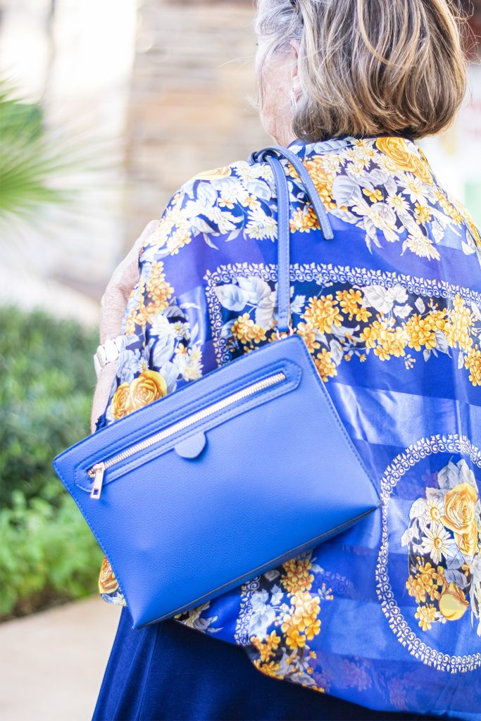 Blue purse for summer