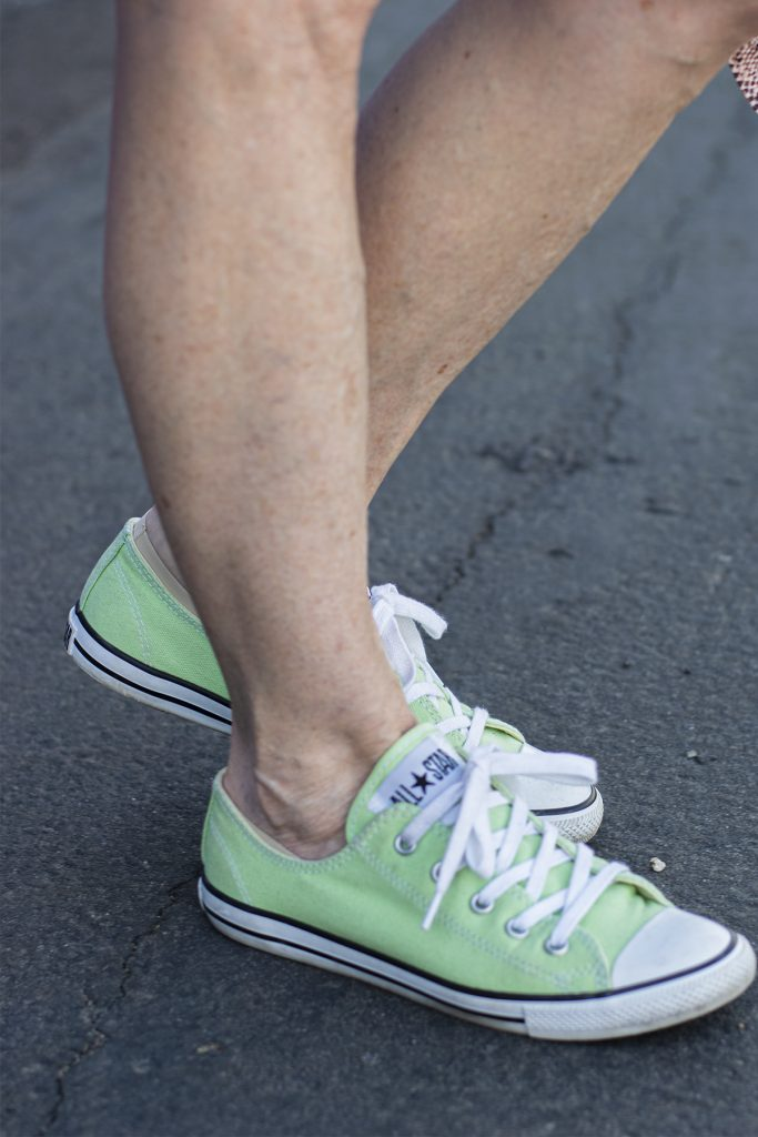 Lime green sneakers