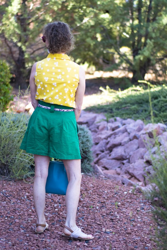 Change out the belt on your paper bag shorts