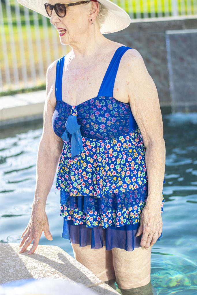Women over 80 in her pool style