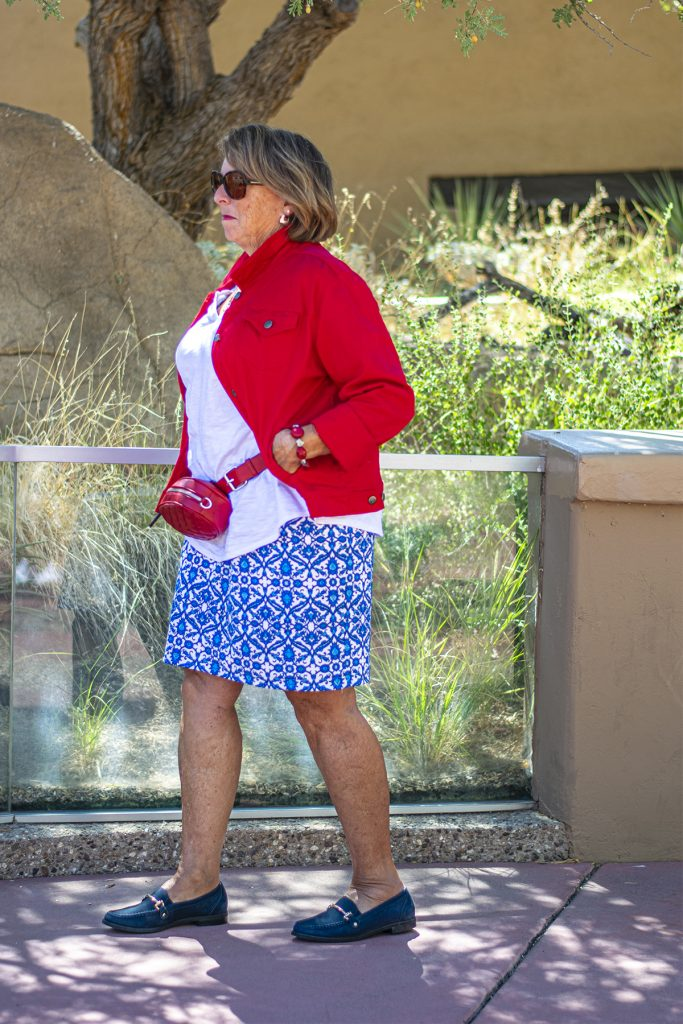 Colorway for patriotic outfit