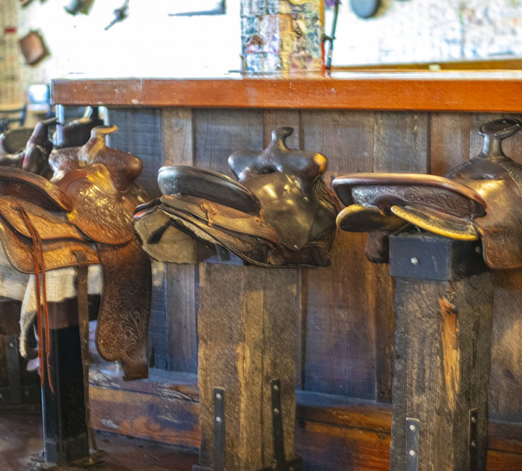Tortilla flats saddle bar stools