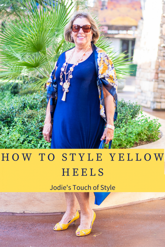 How to style yellow heels