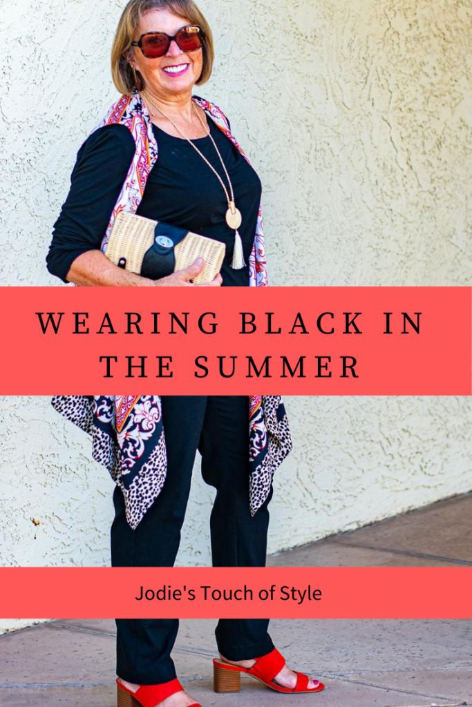 Wearing black in the summer