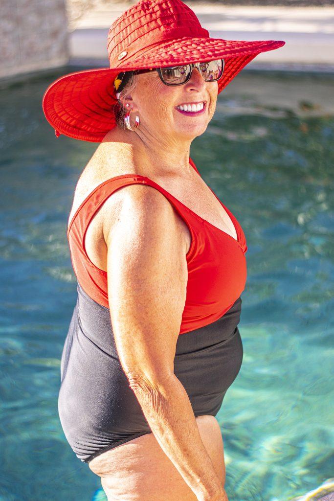 One piece swim pool style