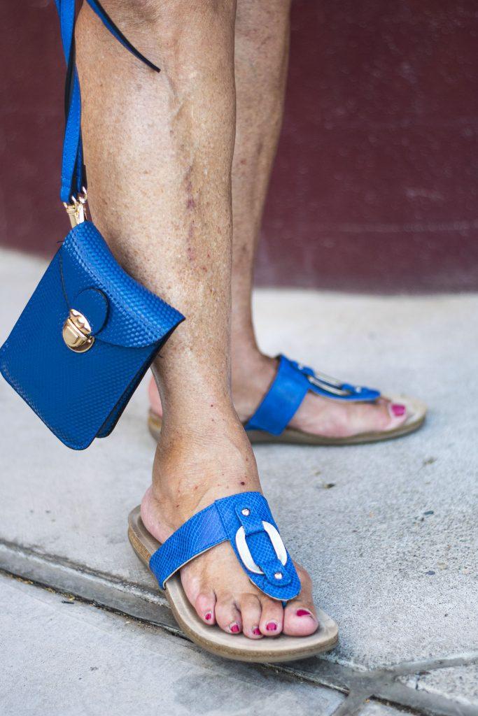 Blue sandals for summer