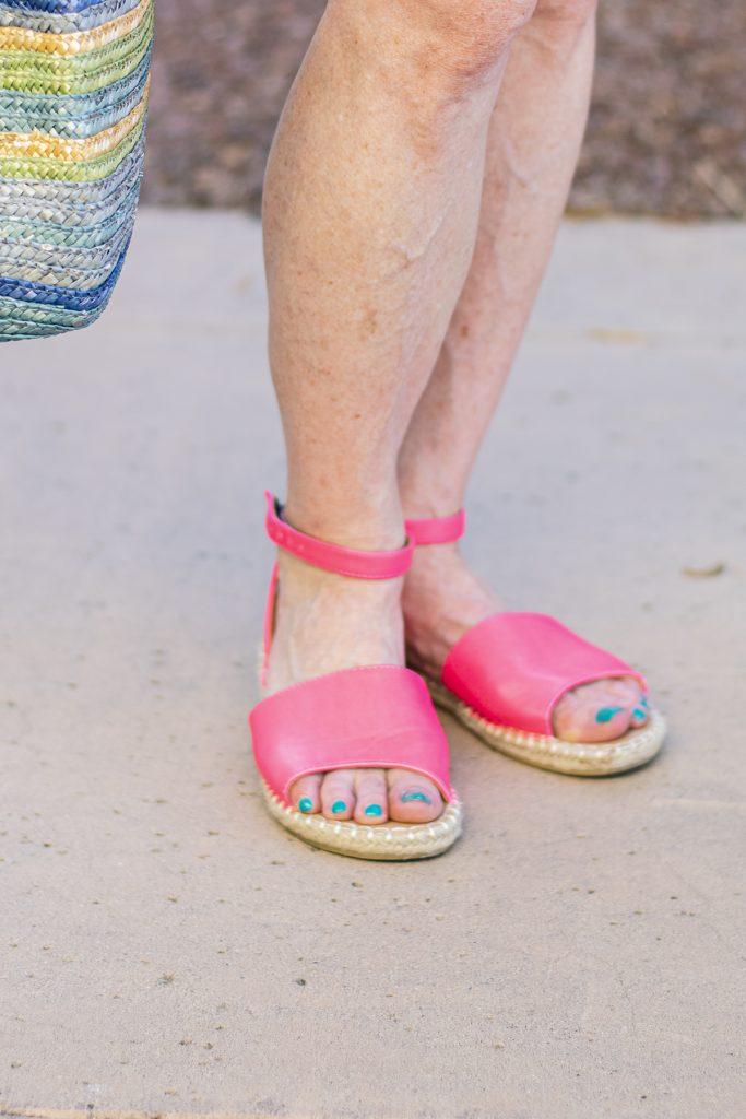 Bright pink sandals
