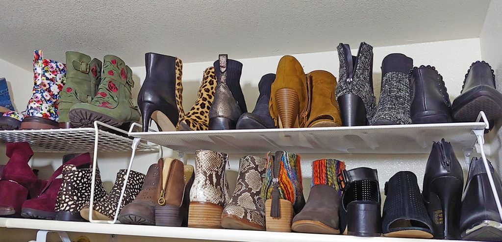 Ankle boots in my closet tour