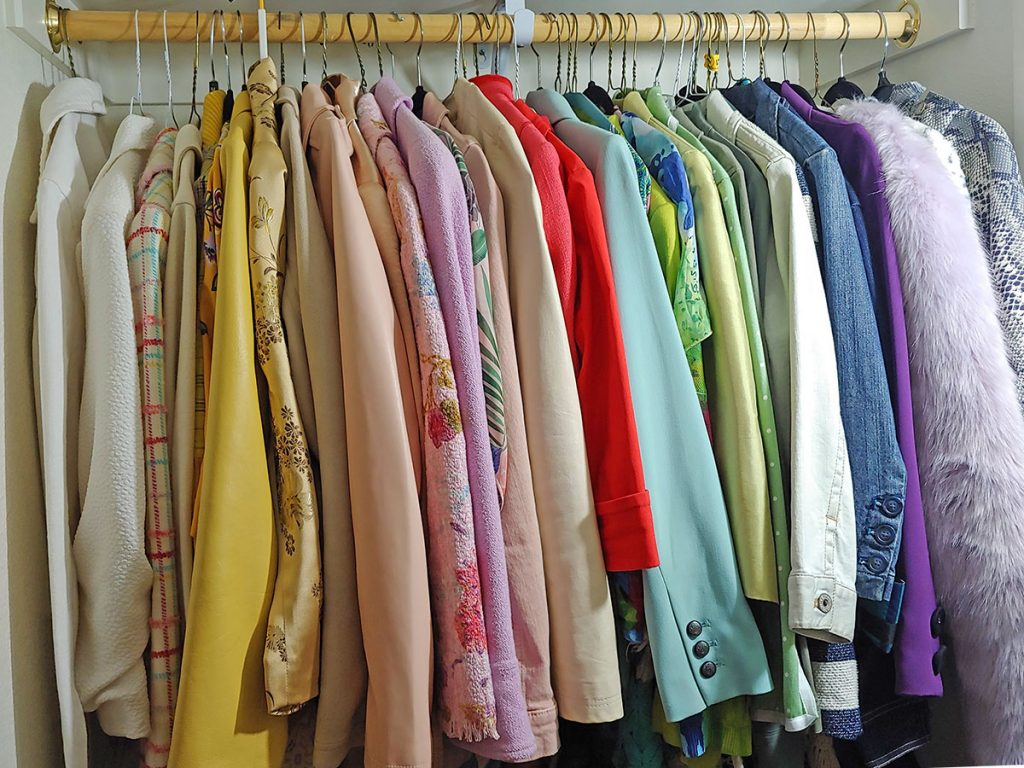 Jackets with my closet tour