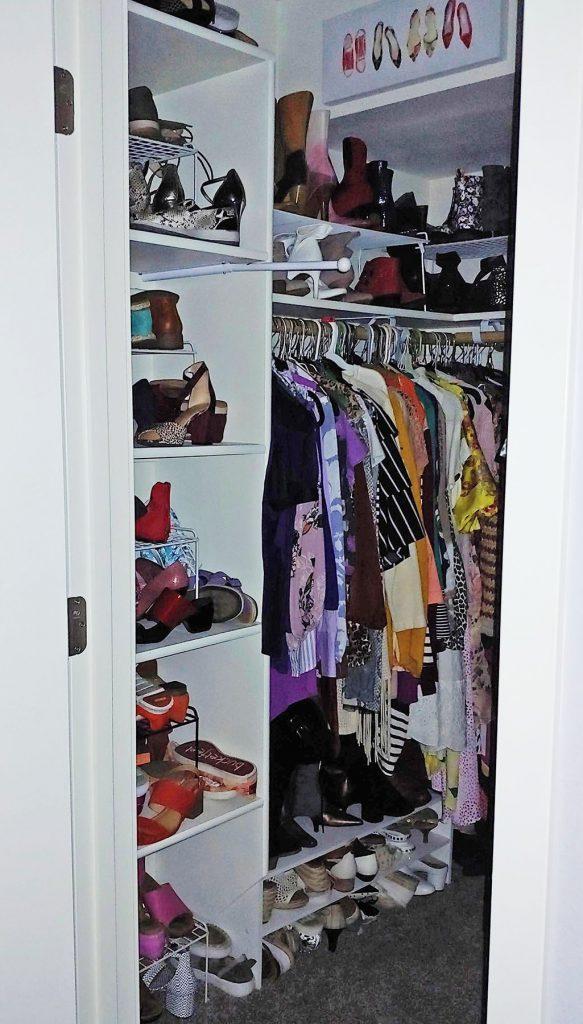 Left side of closet tour