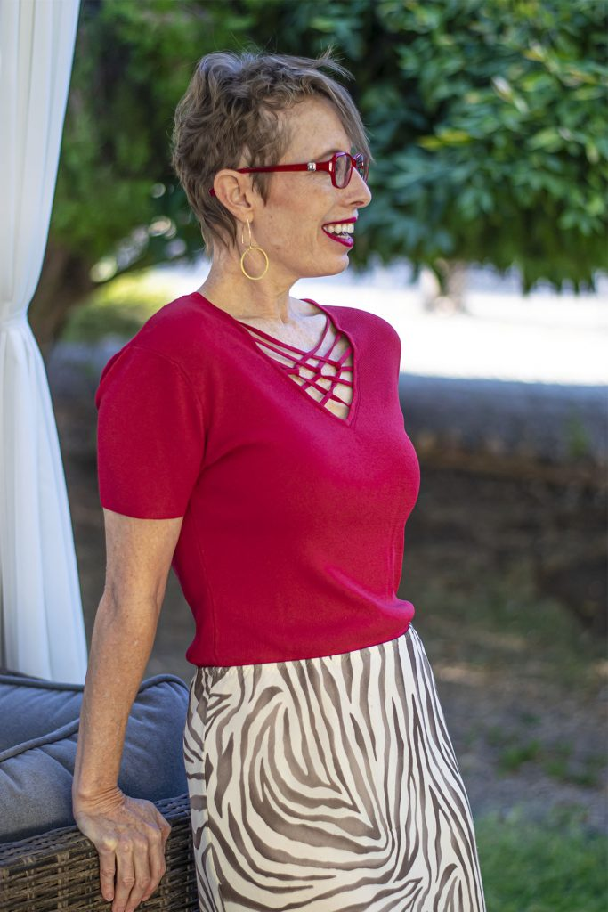 Red and the animal print fashion trend