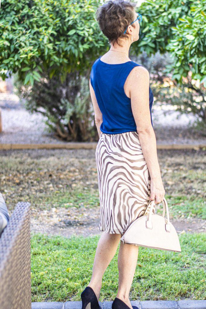 Animal print fashion trend as a skirt