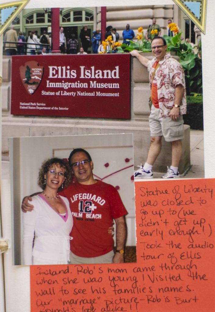 Ellis Island as vacation memories