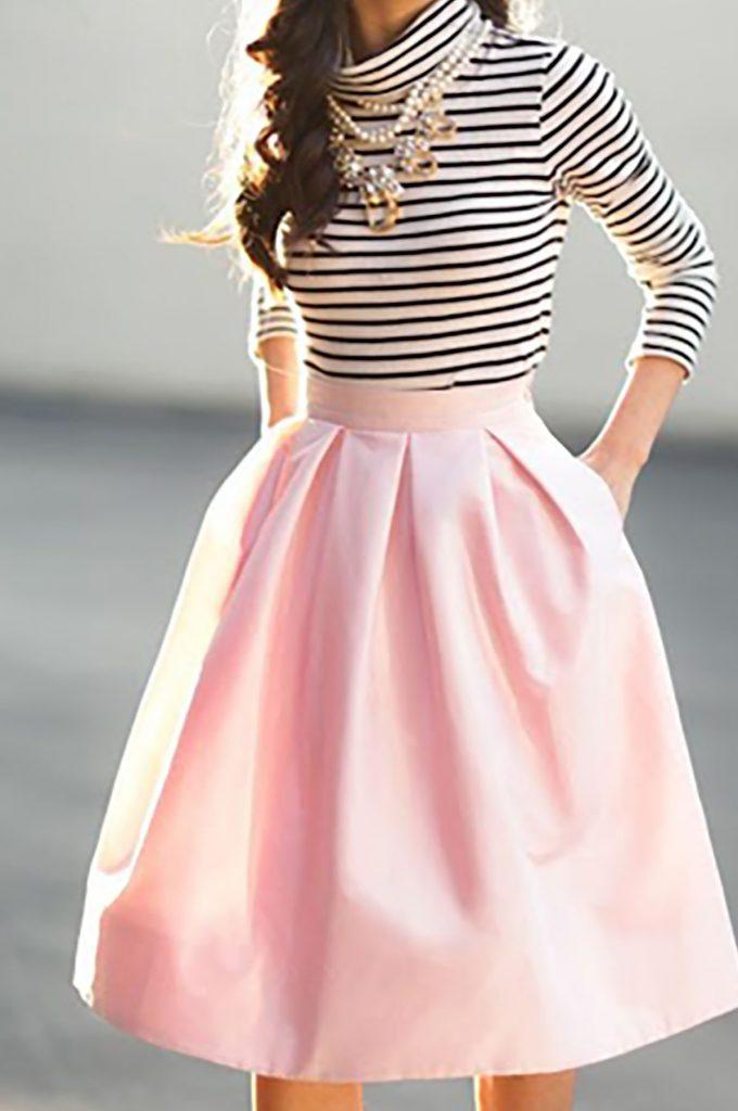 Pink skirt ideas