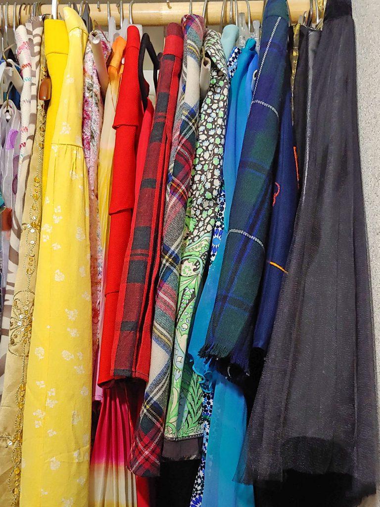 Hanging skirts