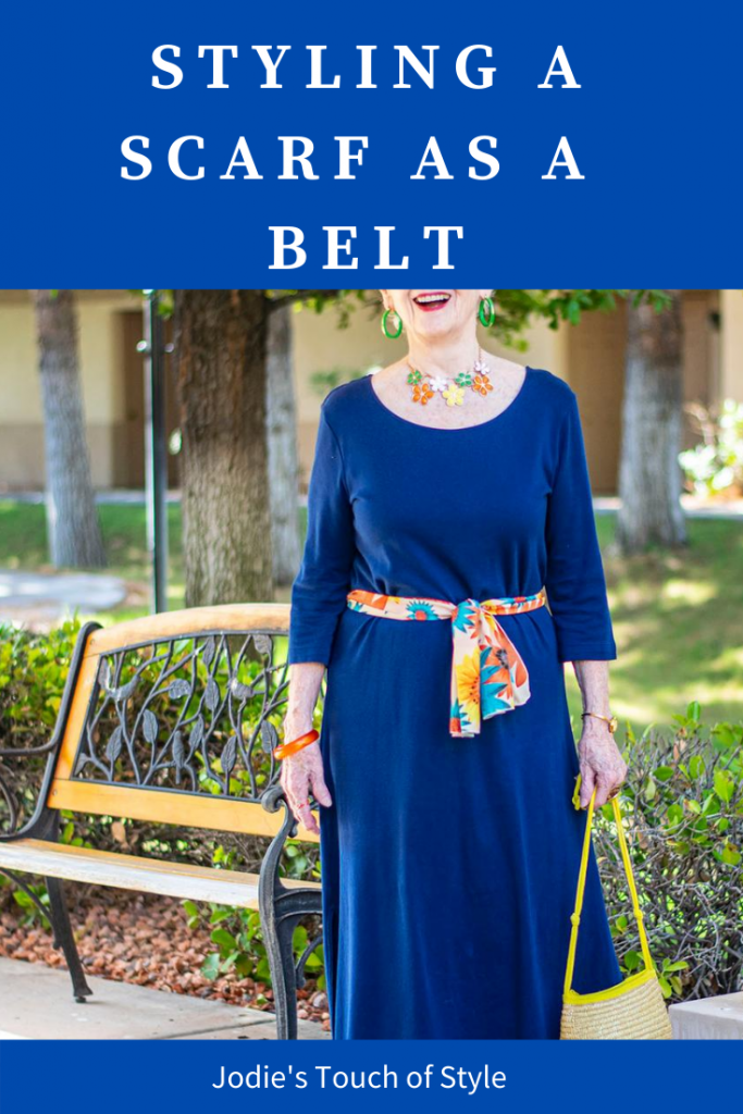 Styling a scarf as a belt