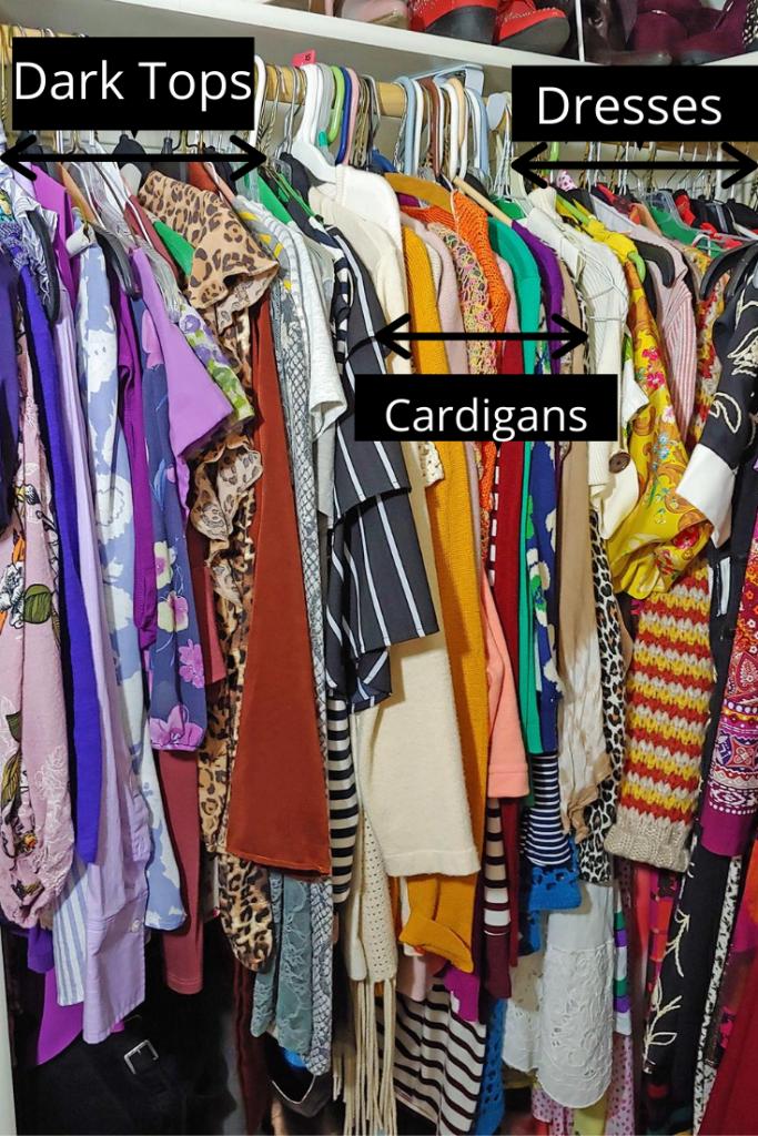 Organization of closet tour