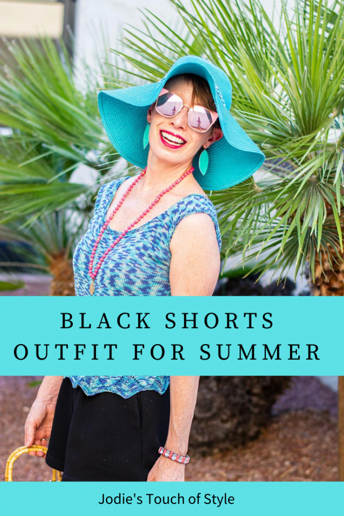 Black shorts outfit for summer