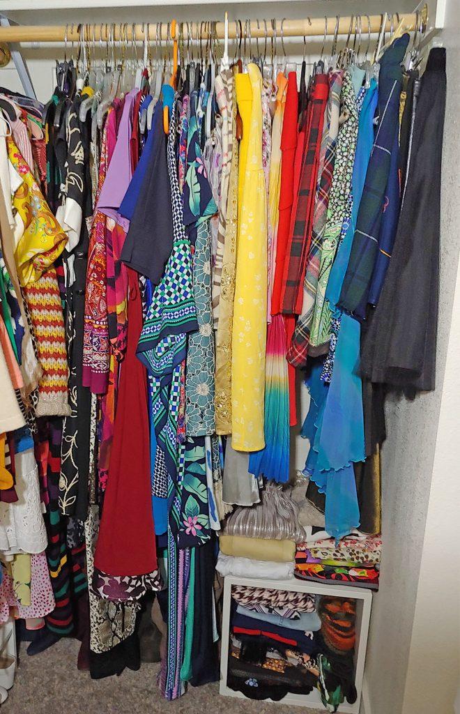 Closet tour of a fashion blogger