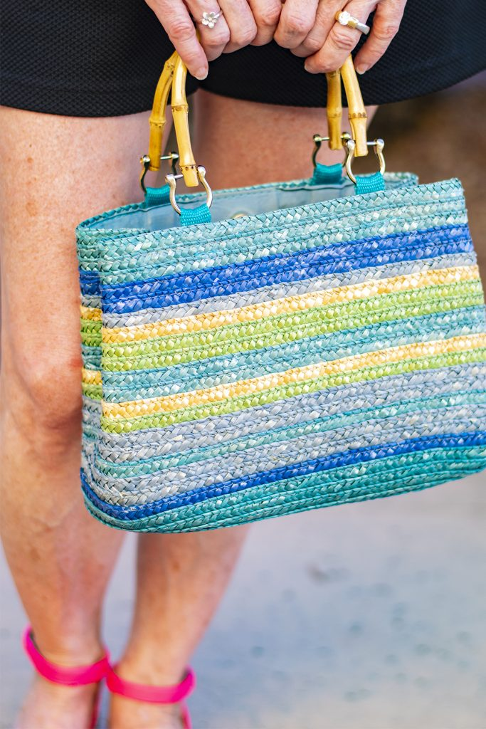 Colorful straw purse
