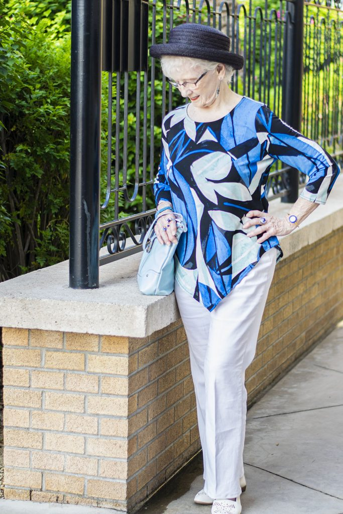 Woman over 80 in clothes for certain body type