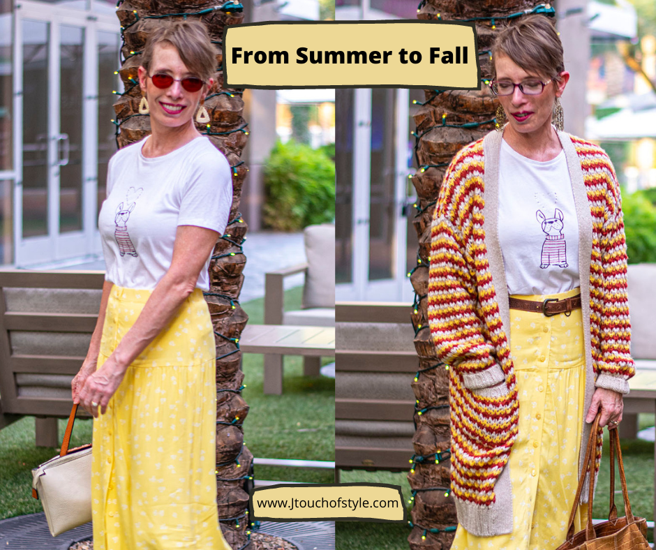From summer to fall with transitional clothing