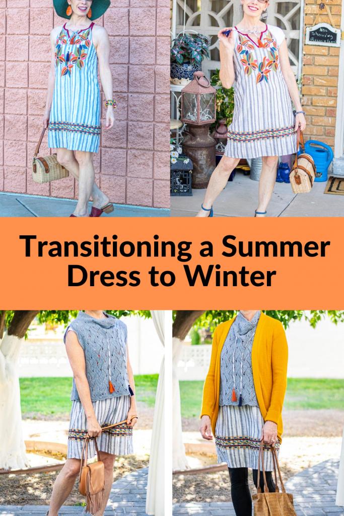 Wearing a summer dress in winter
