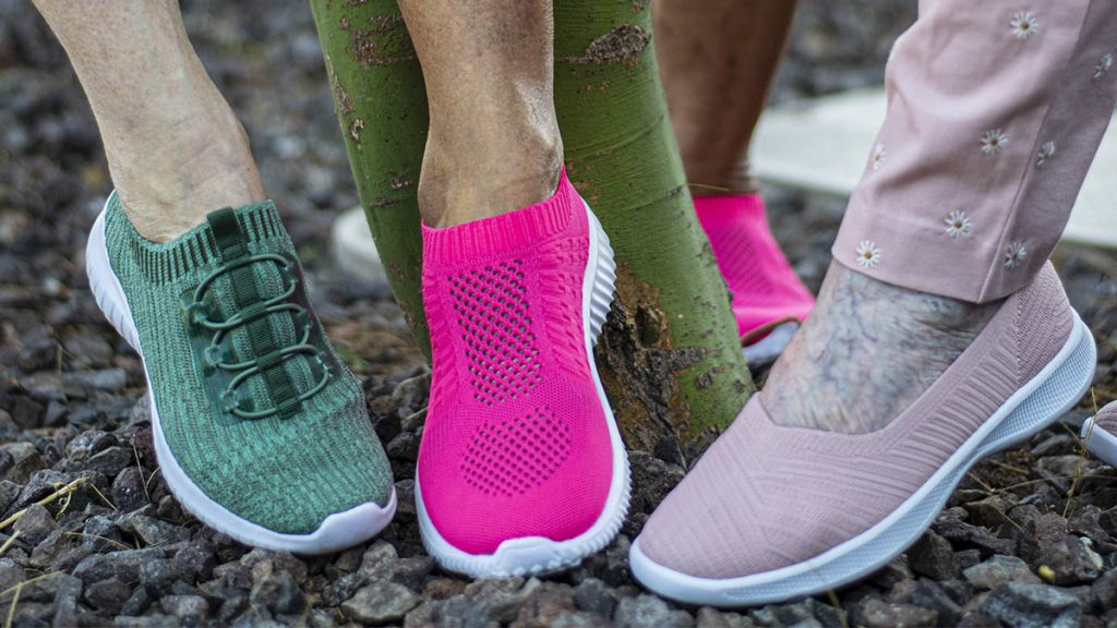 Different varieties of stylish walking shoes