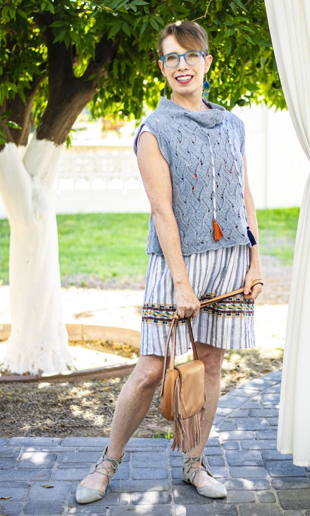 Adding layers to a summer dress
