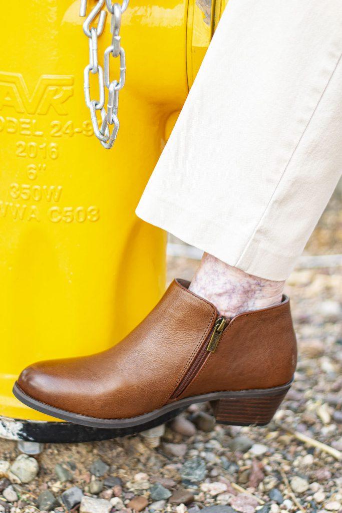 Aetrex booties for older women