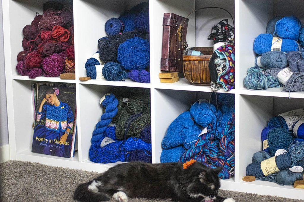 Yarn storage and books