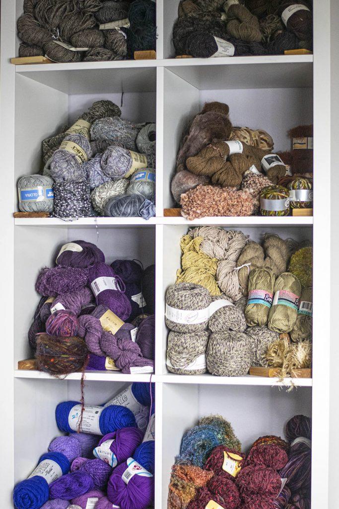 Darker yarns for yarn storage