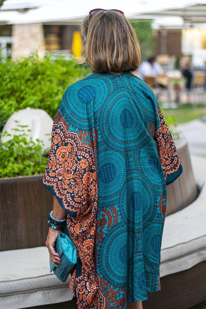 Fall colors in a kimono