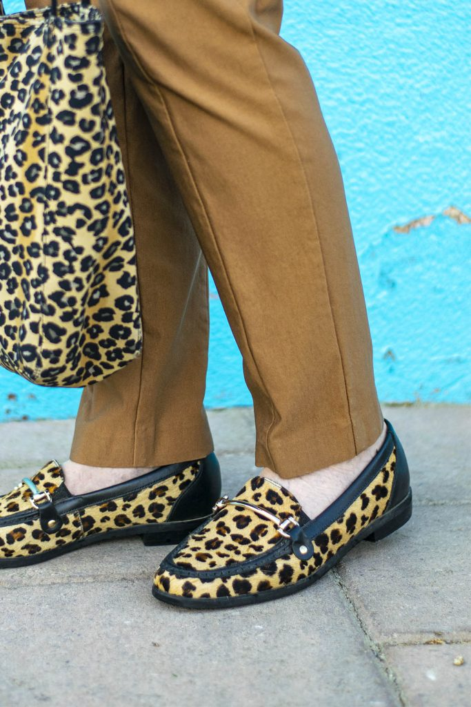 Leopard loafers with Walking Cradles