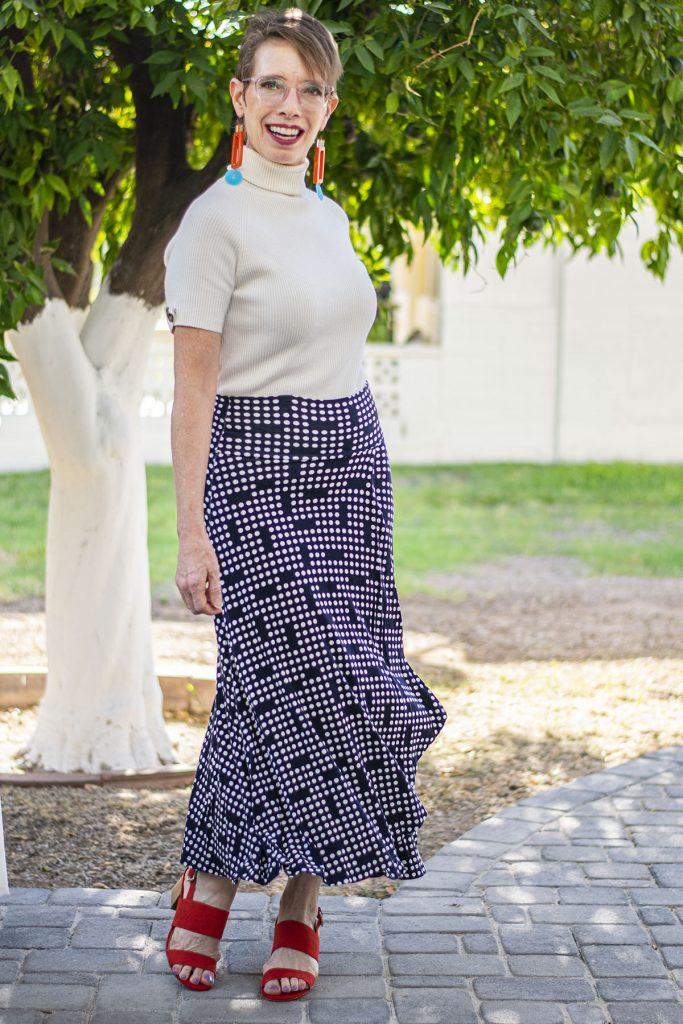 Maxi layering skirt over a dress