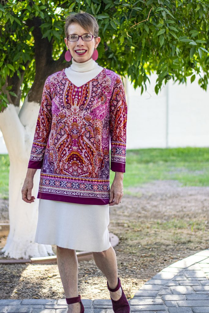 Wearing a tunic over a dress